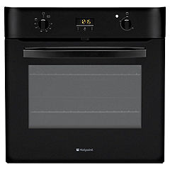 Hotpoint SH53K Integrated Electric Single Multifunction Oven Black