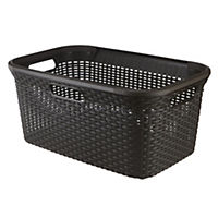 Curver Brown Rattan Style Laundry Basket