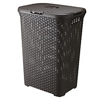 Curver Brown Rattan Style Laundry Hamper