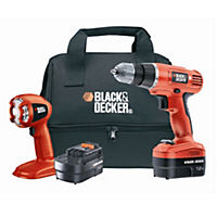 Black and Decker EPC12TCBK 12V Drill Driver with Second Battery, Torch & Soft Bag