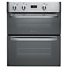 Hotpoint UHS53X Built-under Stainless Steel Electric Double Oven