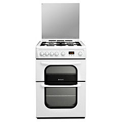 Hotpoint 62DGW White Gas Cooker