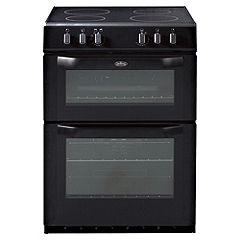 Belling FSE60DO-BK Black Electric Cooker