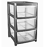 Thumbs Up 3-drawer Silver Tower