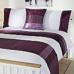 Tu Purple Crinkle Satin Panel Bed in a Bag - includes Duvet Cover, Pillowcase, Cushion Cover and Runner