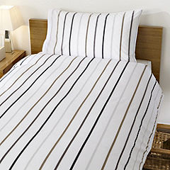 Home Collection Yarn Dyed Herringbone Stripe Bed Linen Set