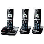Panasonic TG8063 Trio Triple Colour DECT Phone Set with Answer Machine Black