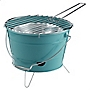 Sainsbury's Bucket Barbecue Purple and Teal
