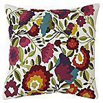 Tu Multicolour Floral Embroidered Cushion
