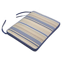 Sainsbury's 2 Blue Stripe Reversible Seat Pads