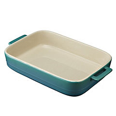Sainsbury's Rectangular Teal Medium Roaster
