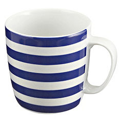 Tu Navy Stripy Mug