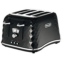 DeLonghi Brilliante Black 4-slice Toaster