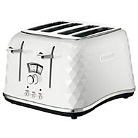 DeLonghi Brilliante White 4-slice Toaster