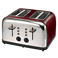 Sainsburys Red 4 Slice Toaster