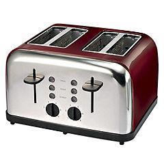 Sainsburys Red 4 Slice Toaster