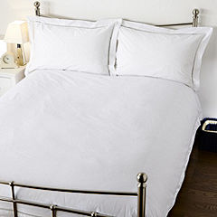Home Collection White Flange Bed Linen Set