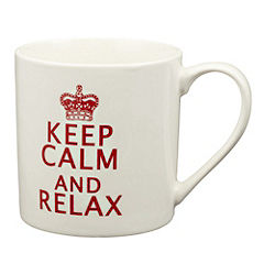 Tu Keep Calm Mug Red