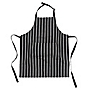 Sainsbury's Black Woven Butcher's Stripe Apron
