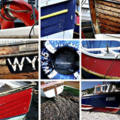 Boats Canvas Wall Art 48x48cm