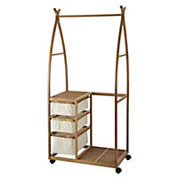 Sainsbury's Bamboo 3-drawer Garment Rail