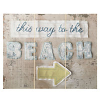This Way To The Beach Wall Art 40x50cm