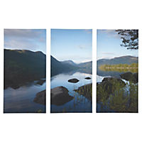 Lake Scene Set of 3 Canvas Wall Art 75x50cm