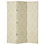 Cream Damask Screen Room Divider 150x120cm
