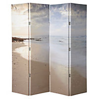 Beach 4-panel Screen Room Divider 150x160cm