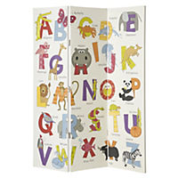 Animals ABC Screen Room Divider 150x120cm