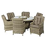 Modena Round Table with 6 Ultimate Comfort Chairs Furniture Set