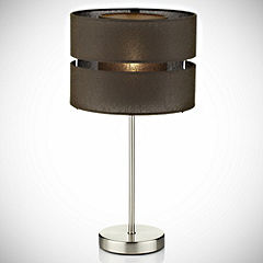 Brown Tiered Table Lamp