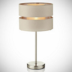 Natural Tiered Table Lamp