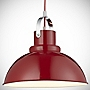 Tu Red Metal Utility Pendant Shade