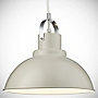 Tu Cream Metal Utility Pendant Shade