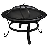 La Hacienda Boston Black Steel Firepit