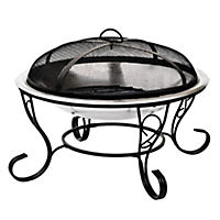 La Hacienda Decorative Stainless Steel Firebowl