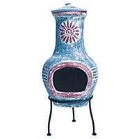 La Hacienda Small Decorative Clay Chimenea