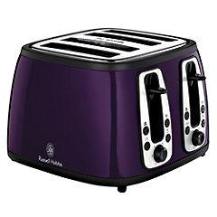 Russell Hobbs 18441 Purple Heritage 4 slice Toaster