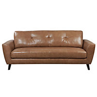Gianna Large Tan Leather Sofa