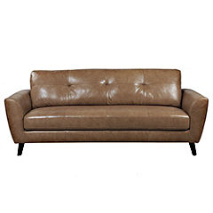 Gianna Regular Tan Leather Sofa