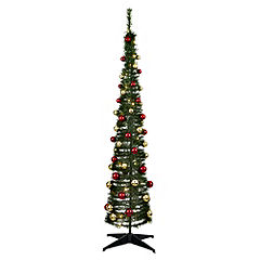Sainsbury's 6ft Green Pop-up Tree with Red & Gold Baubles