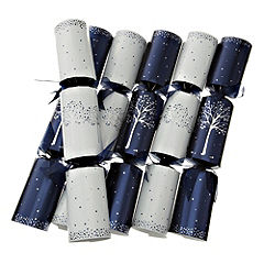 Sainsbury's Dinner Party Crackers 6-pack Navy & White