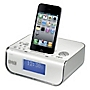 Red NE-2107 DAB/FM Clock Radio with iPhone Dock