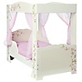 Floral Four Poster Bed Toddler Bed