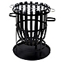 La Hacienda Black Round Steel Barbecue Firebasket