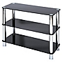 LEVV Regent Black Glass 3-tier Unit