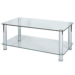 LEVV Regent Clear Glass Coffee Table