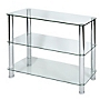 LEVV Regent Clear Glass 3-tier Unit