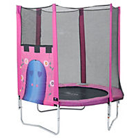 Plum Palace Trampoline and Enclosure